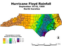 Hurricane Floyd rainfall amounts Sept 1999